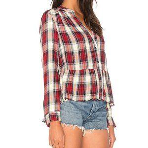 Splendid Edgeware Cherry Plaid Button Down Shirt